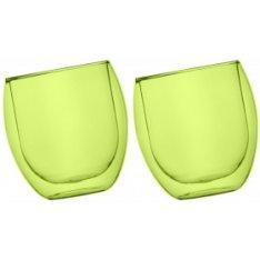 Szklanki Jumbo termiczne zielone 2x400ml