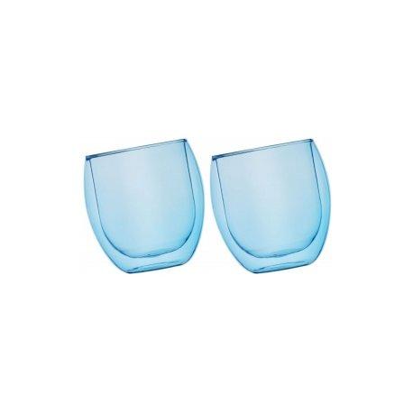 Szklanki termiczne Jumbo niebieski 2x400ml