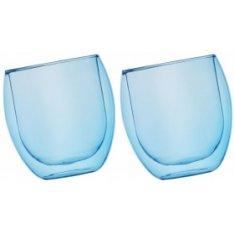Szklanki Jumbo termiczne niebieski 2x400ml